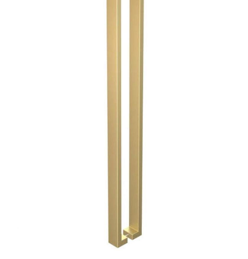 03 - Puxador tubo 40x20 ( dourado) - 1886 - dourado - Puxadores em inox