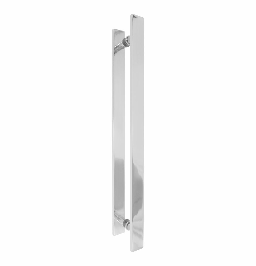 "Puxador H Barra Chata Reto Alumínio 1"" ½"" x 3/8 - 1674 - Puxadores de alumínio"