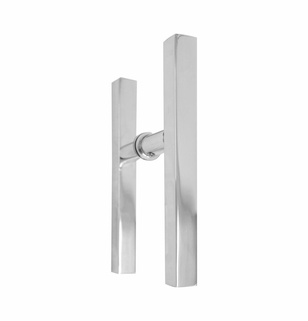 Puxador H Quadrado Alumínio 3/4 - 1672 - Puxadores de alumínio