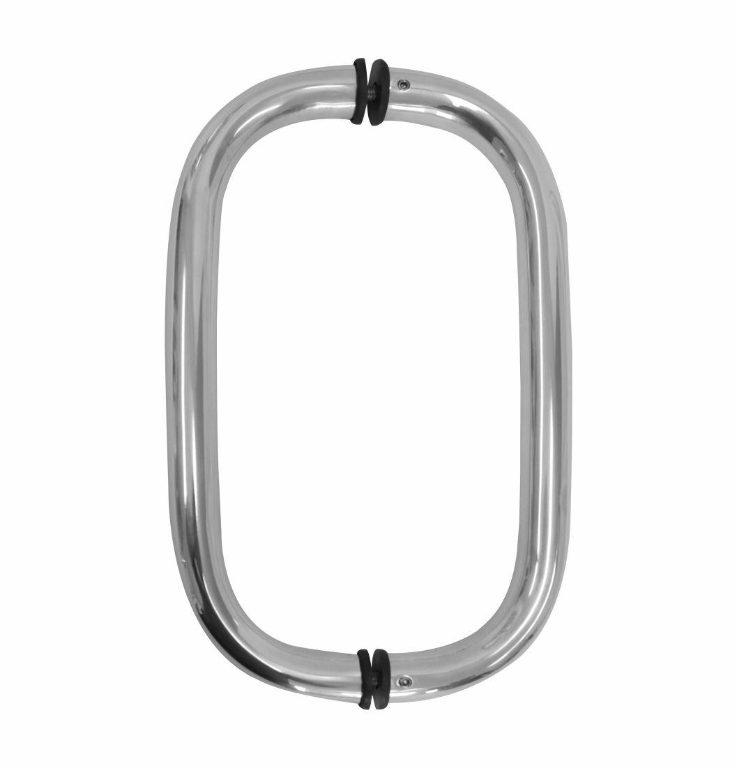 """Puxador Tubolar Oval 1"""" - 1676 - Puxadores de alumínio"""