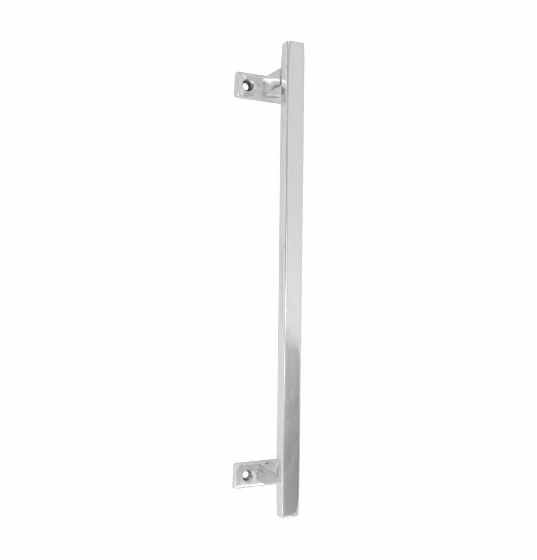 Porta Tolha Retangular Em Alumínio  ½ x 3/8 - 1688 - Puxadores de alumínio