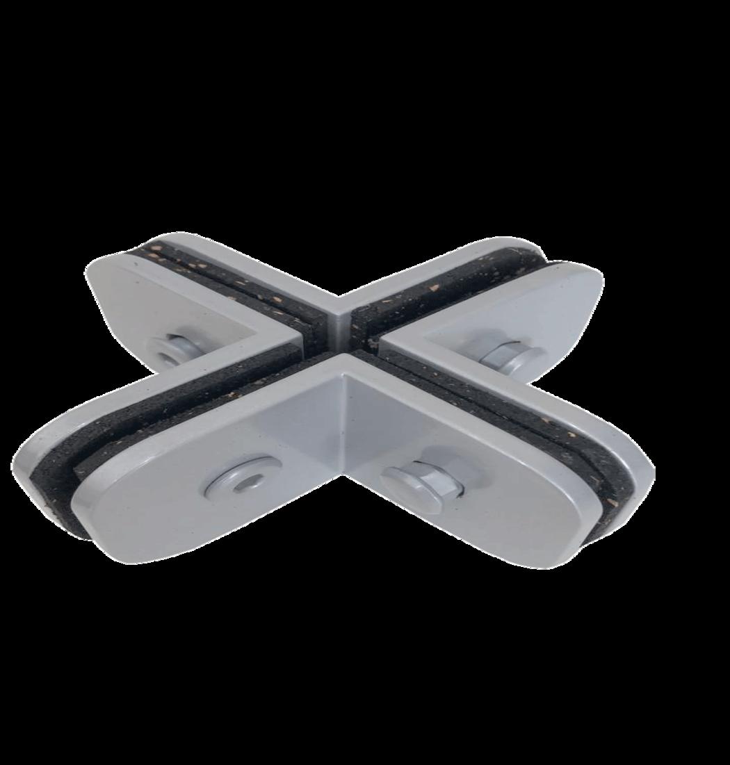 Suporte Para União de 4 Vidros Perpendiculares Entre Si - 1323 - Ferragens para vidro temperado
