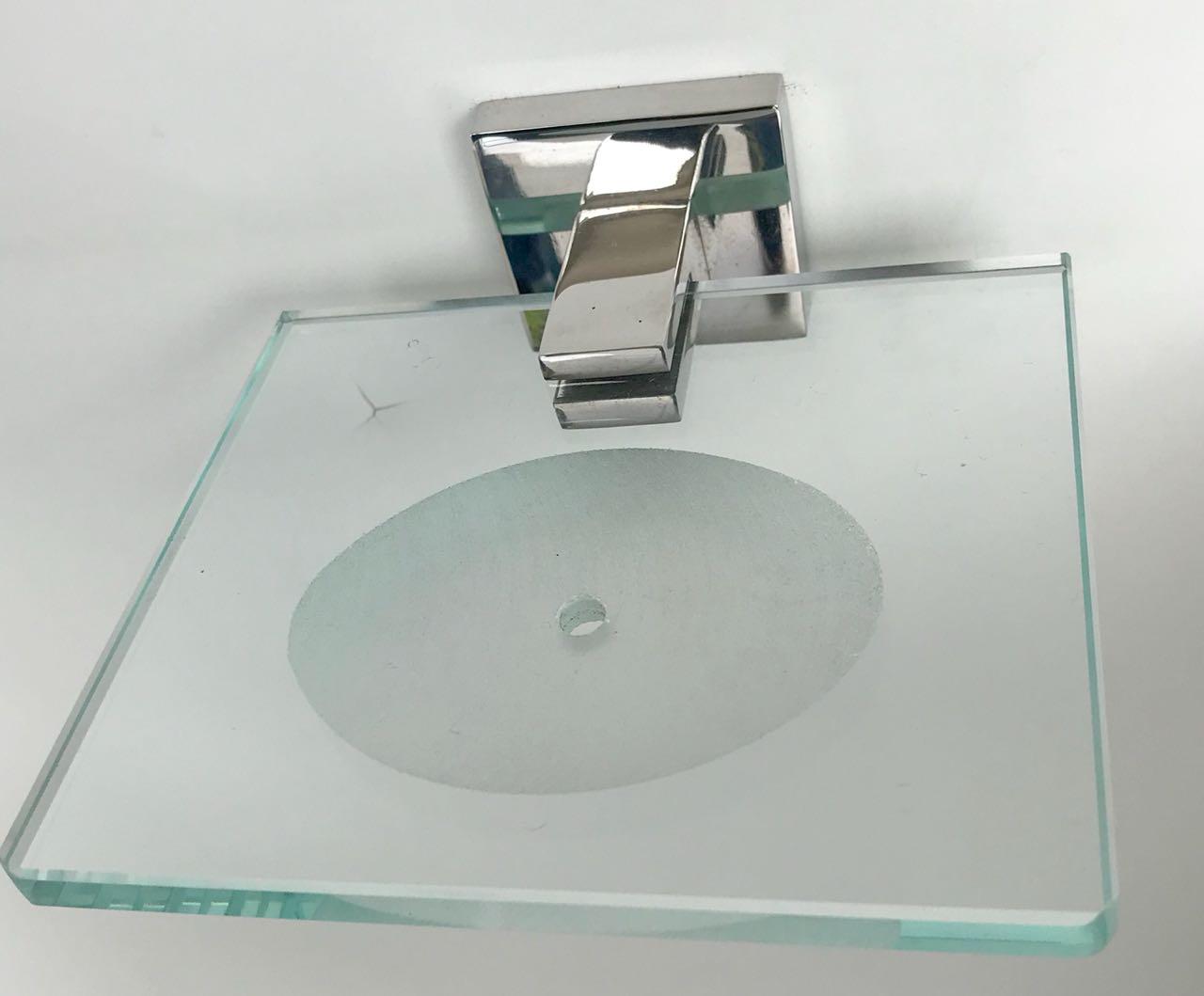 Saboneteira inox/vidro - 1880 - Acessórios para Banheiro