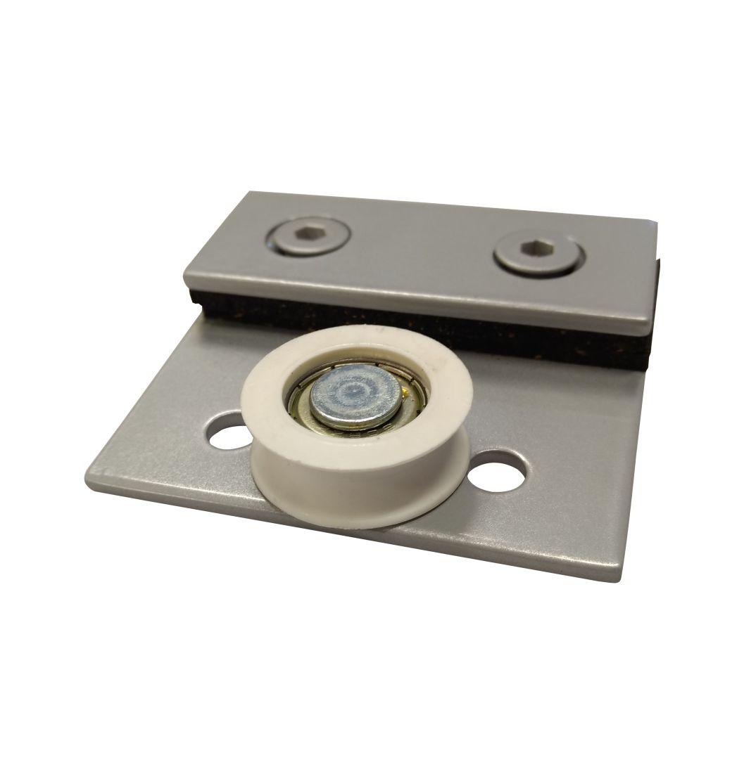Carrinho Simples Para Porta com Trilho (Cx 125 Alumiplast) - 1122S - Roldanas